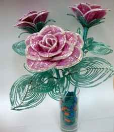 roza iz bisera 6 Роза из бисера пошаговое фото мастер класс